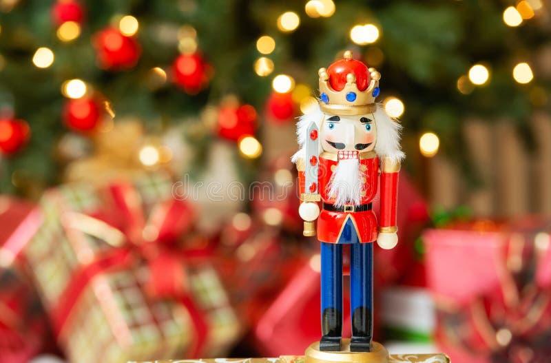 圣诞节胡桃钳小雕象 免版税库存照片