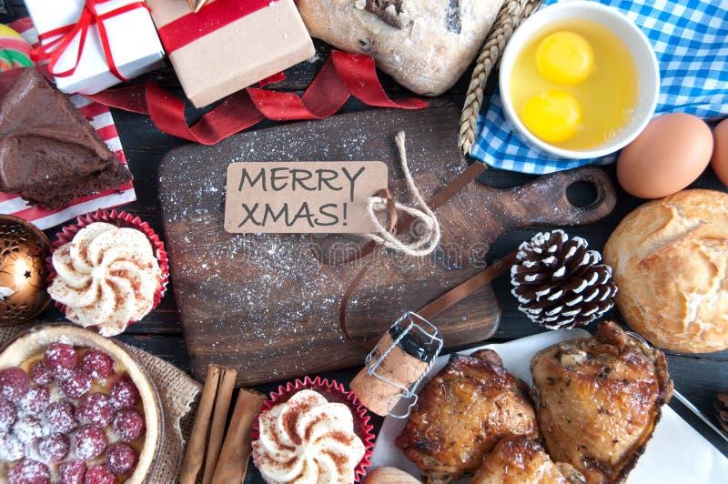 圣诞节膳食 库存照片