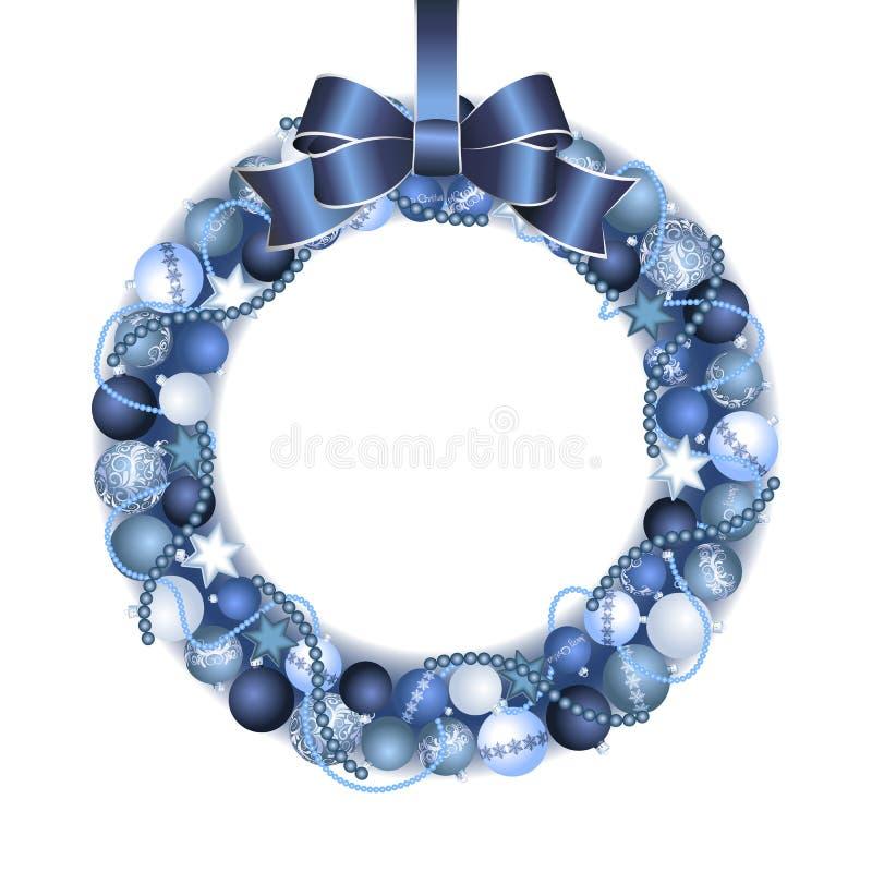 圣诞节花圈装饰 向量例证
