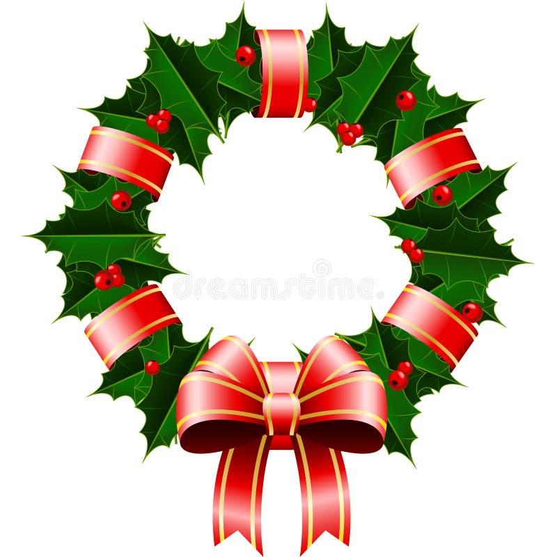 圣诞节花圈 库存例证