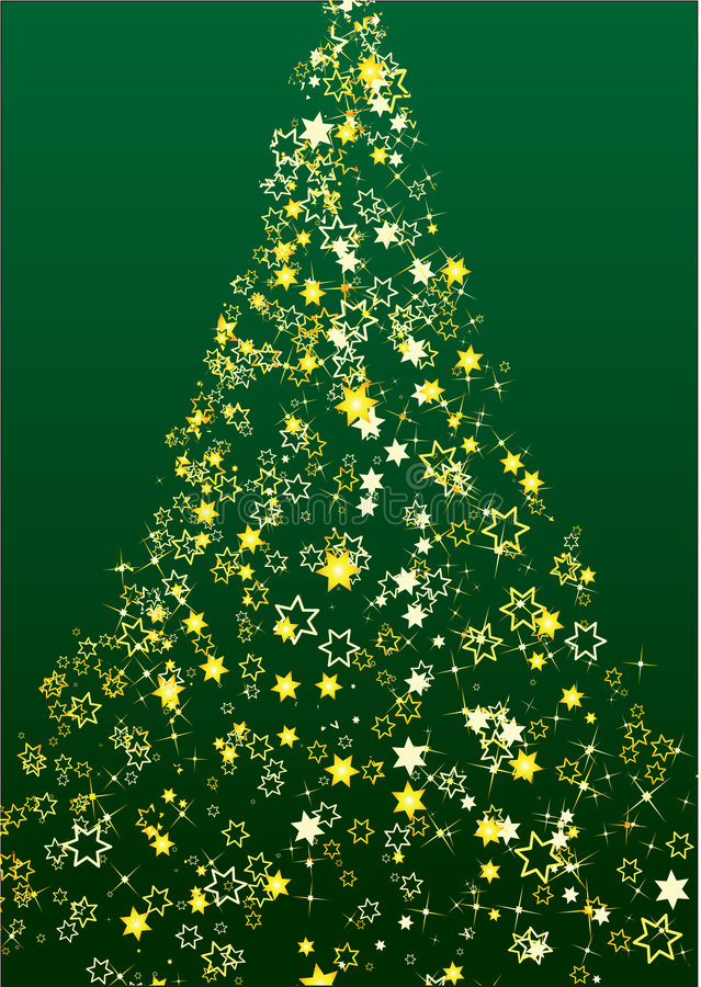 圣诞节花结构树 皇族释放例证
