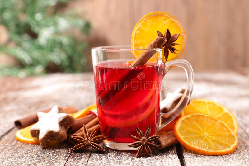 圣诞节茶 免版税库存图片