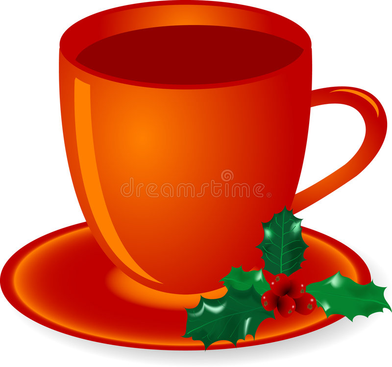 圣诞节茶 向量例证