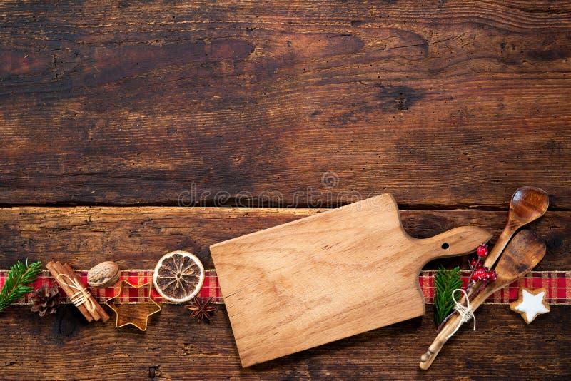 圣诞节菜单卡片 免版税库存图片