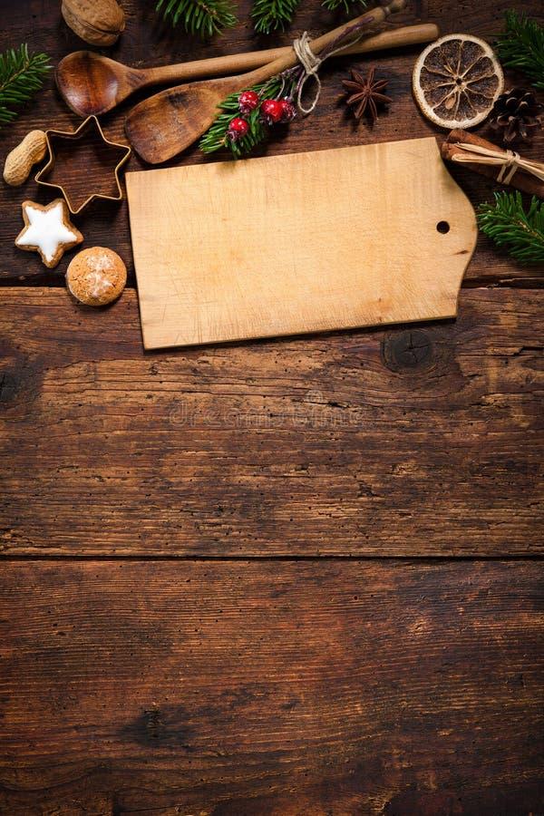 圣诞节菜单卡片 库存照片