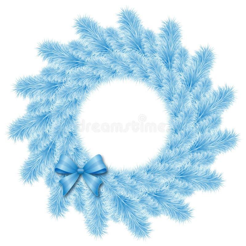 圣诞节蓝色花圈 皇族释放例证