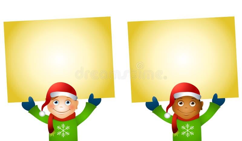 圣诞节藏品开玩笑符号 皇族释放例证