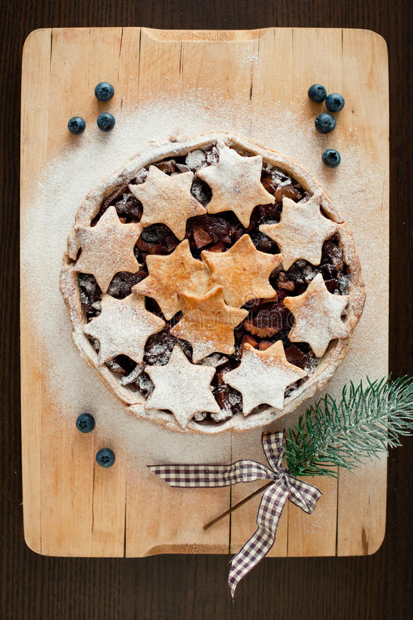 圣诞节蛋糕 图库摄影