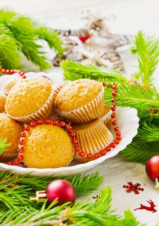 圣诞节蛋糕 免版税库存照片