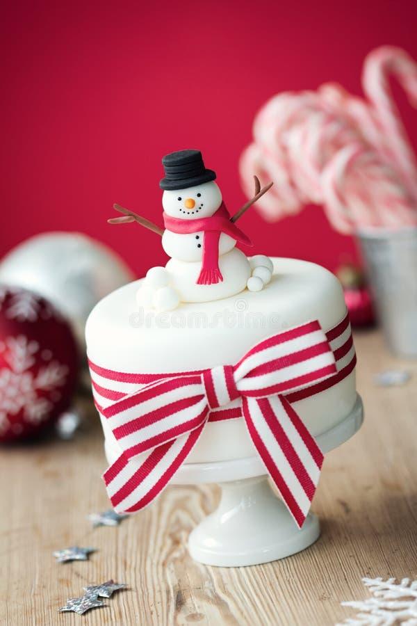 圣诞节蛋糕 库存照片