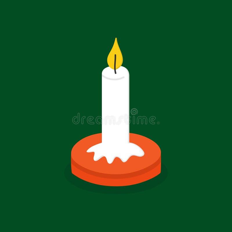 圣诞节蜡烛传染媒介例证象 皇族释放例证