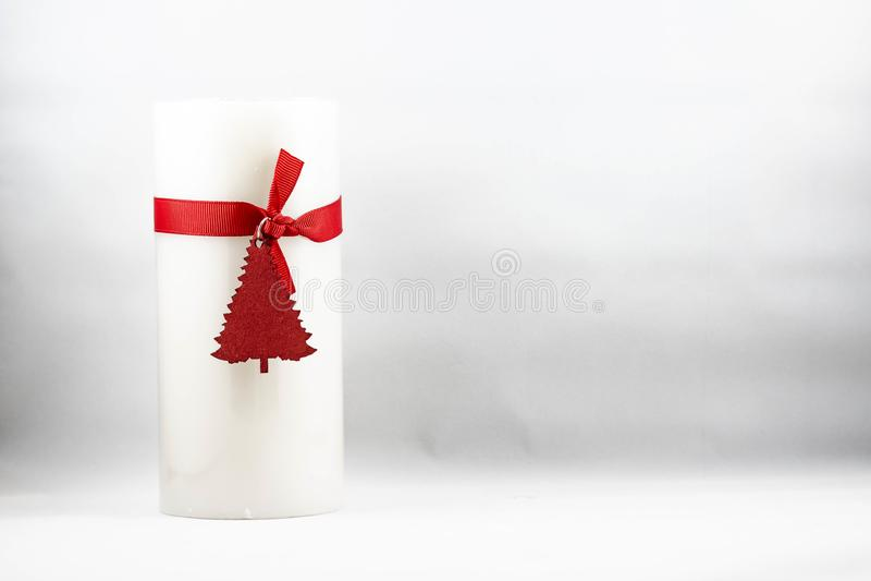 圣诞节蜡烛的图象 免版税库存照片