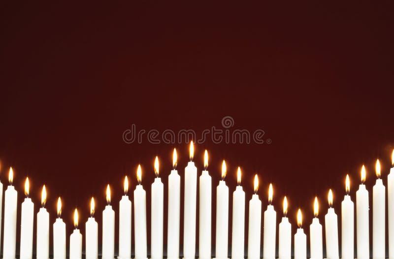 圣诞节蜡烛行  库存图片