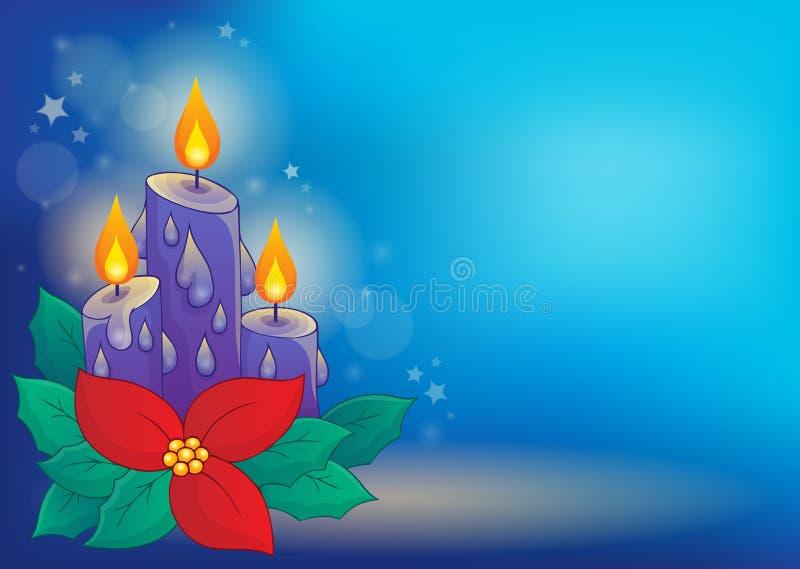 圣诞节蜡烛题材图象3 皇族释放例证