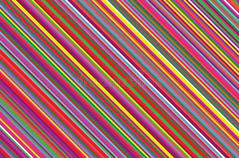 圣诞节蜡烛,棒棒糖样式 与倾斜的线的镶边对角背景 有条纹的背景传染媒介例证 向量例证