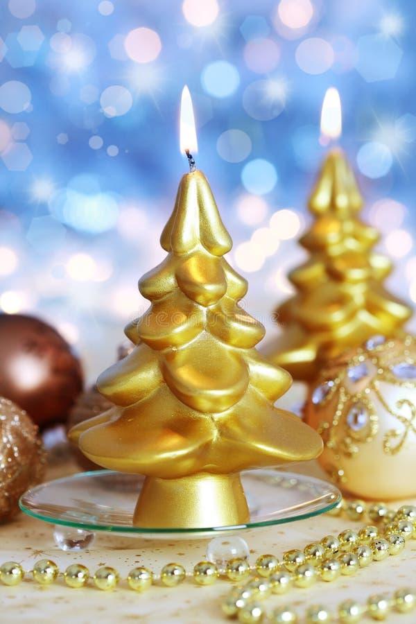 圣诞节蜡烛 库存照片
