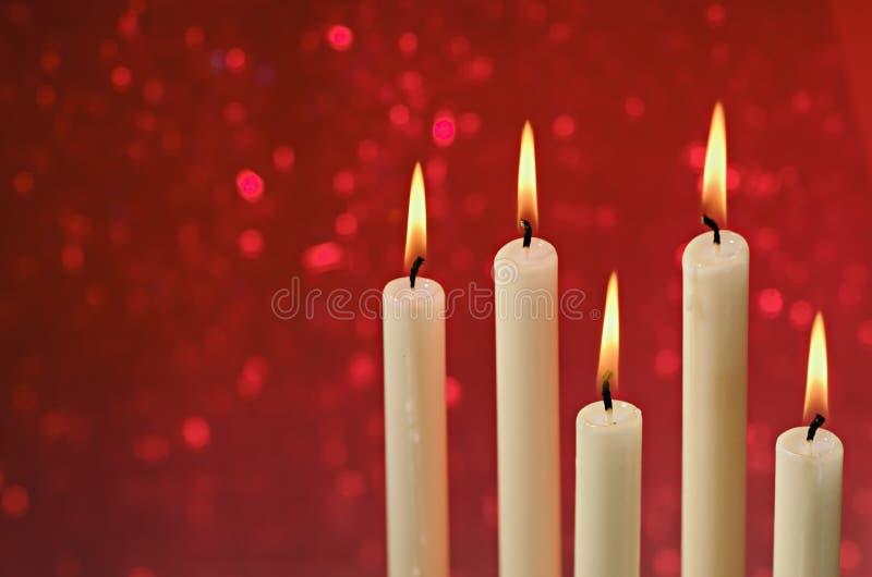 圣诞节蜡烛 免版税库存图片
