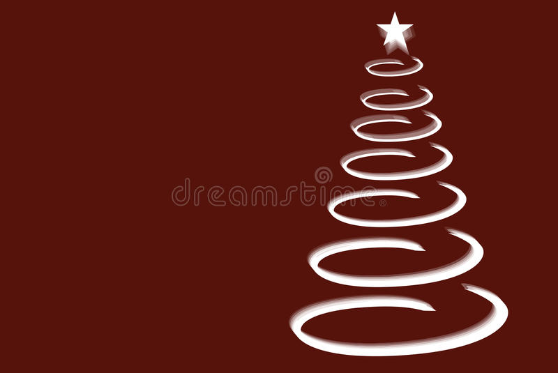 圣诞节螺旋结构树 库存照片