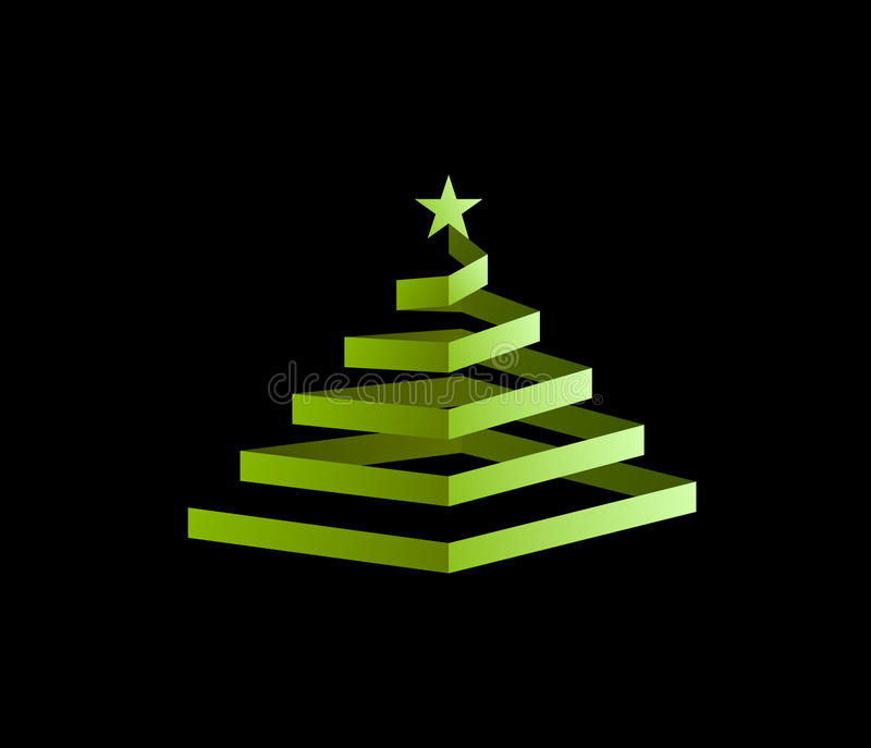 圣诞节螺旋结构树 免版税库存图片