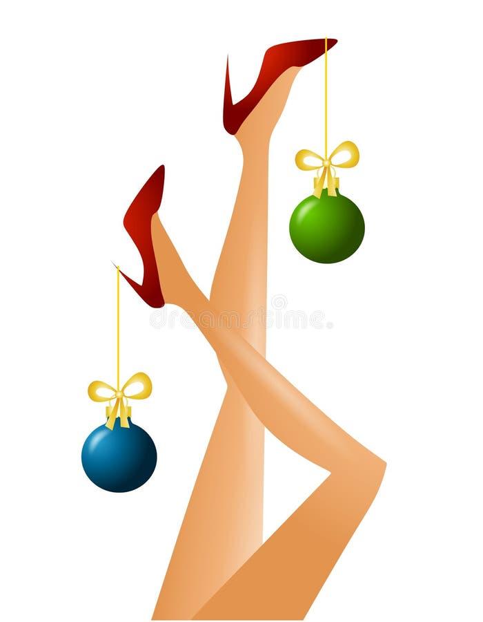 圣诞节行程结构树 向量例证