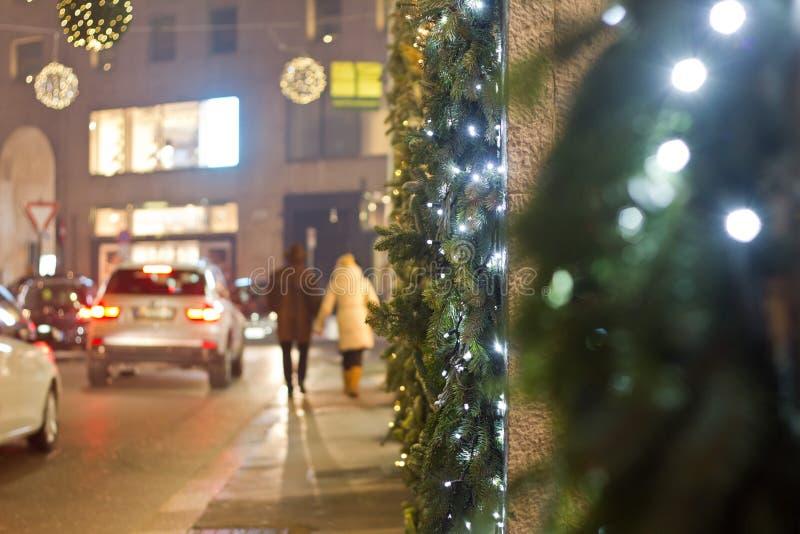 圣诞节街道 免版税库存照片