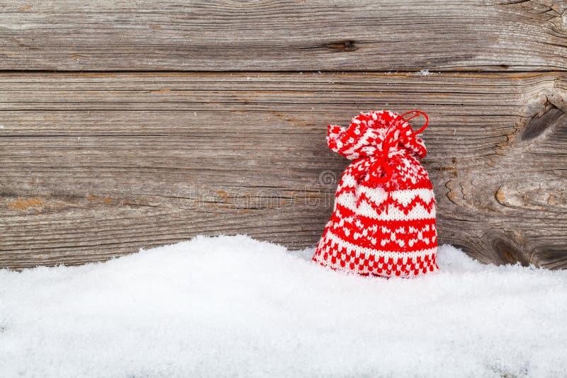 圣诞节袋子,礼物 免版税库存照片