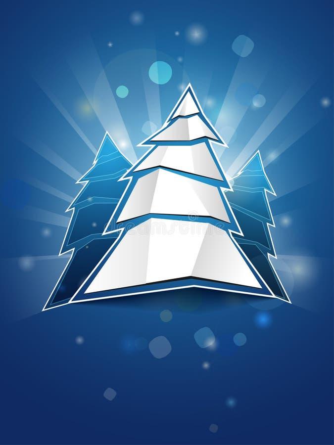 圣诞节被折叠的纸结构树 免版税库存图片