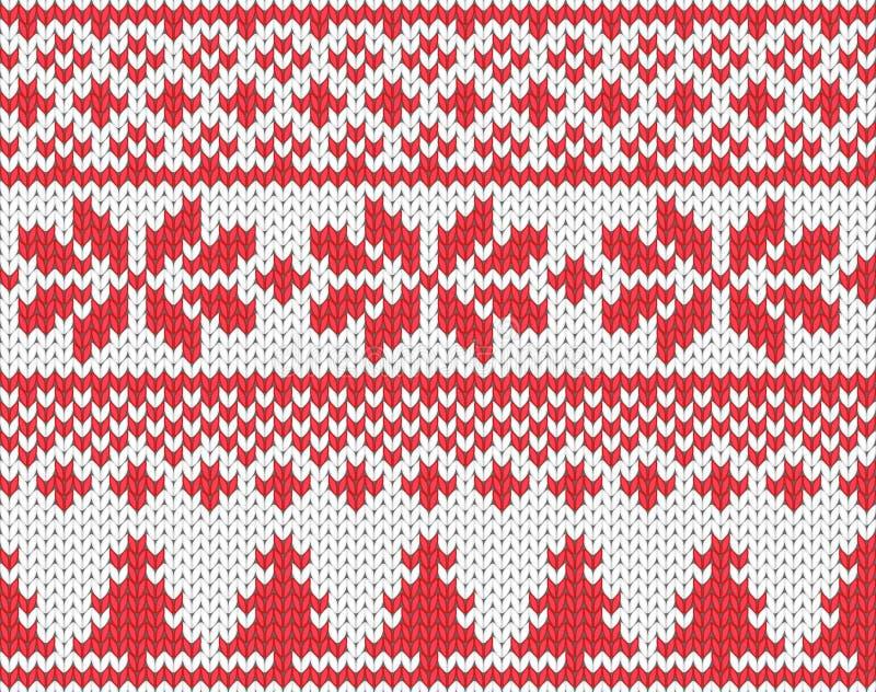 圣诞节被编织的背景 向量例证