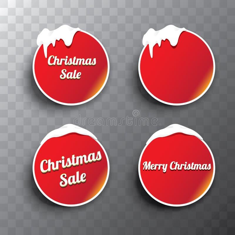 圣诞节被设置的网按钮 冬天网按钮 库存例证
