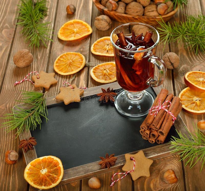 圣诞节被仔细考虑的酒 图库摄影