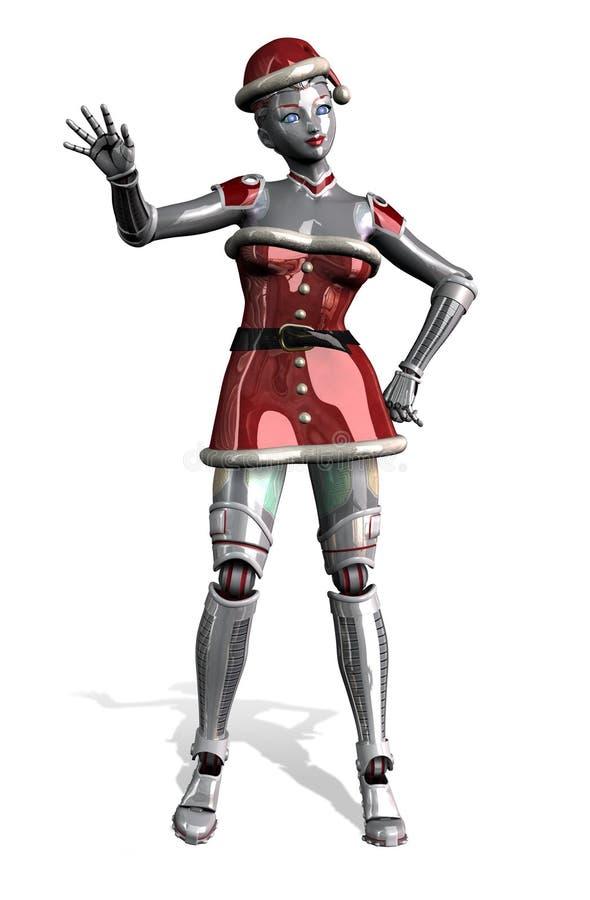 圣诞节裁减路线机器人挥动 库存例证