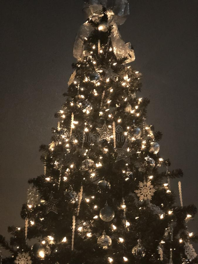 圣诞节裂片树2 免版税库存图片