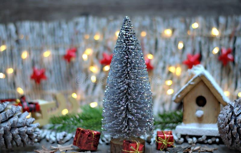 圣诞节装饰、假日和装饰概念 免版税库存图片