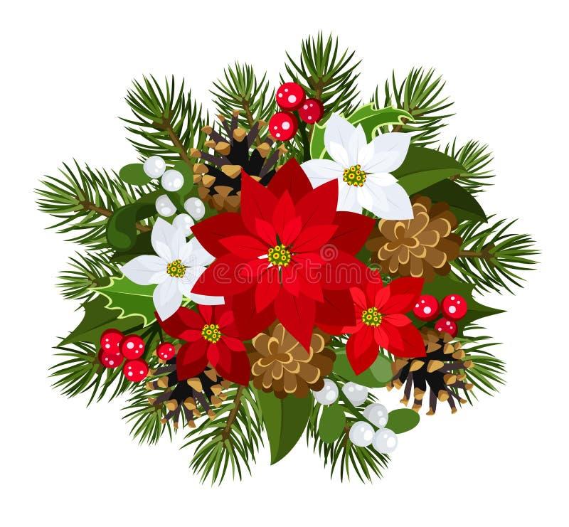 圣诞节装饰。 向量例证。 库存例证