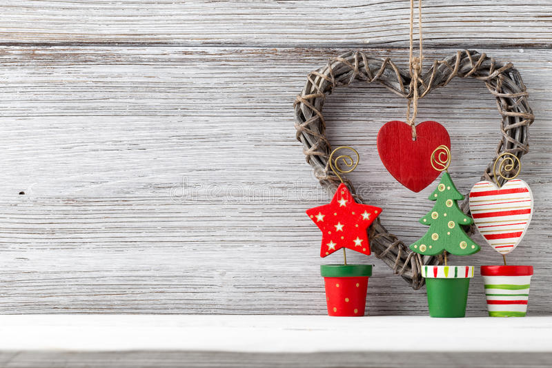 圣诞节装饰。 库存照片
