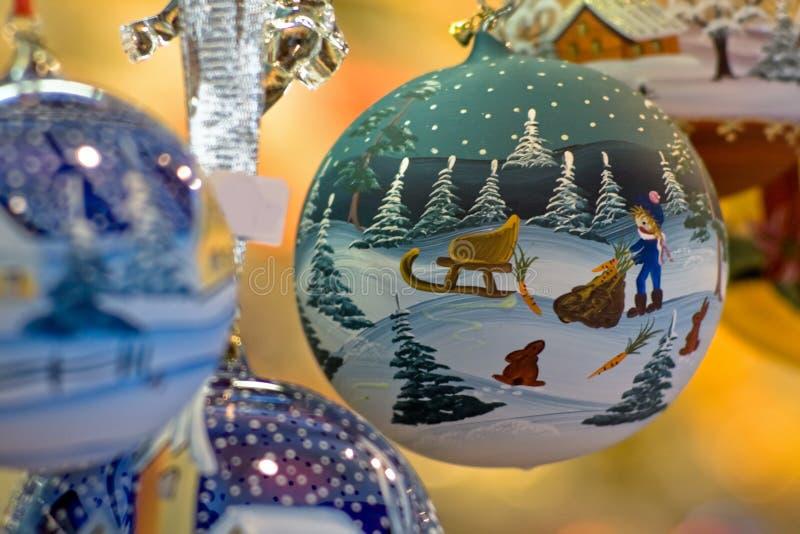 圣诞节装饰一件 免版税库存照片