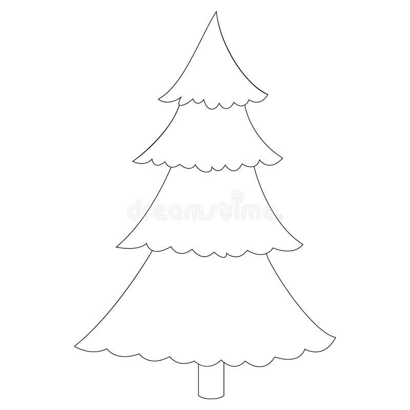 圣诞节装饰了例证结构树 免版税库存图片