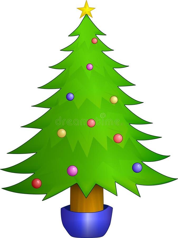 圣诞节装饰了结构树 图库摄影