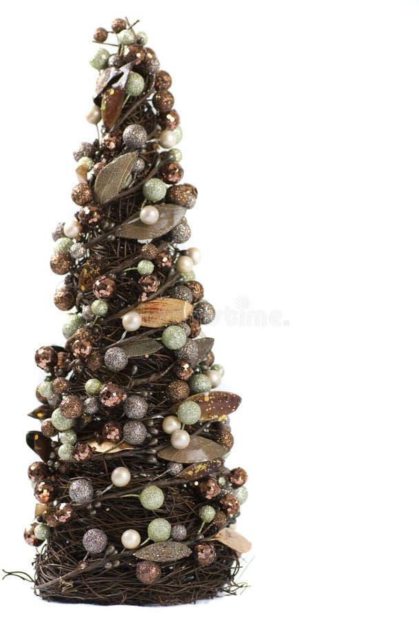 圣诞节装饰了miniture结构树 库存照片
