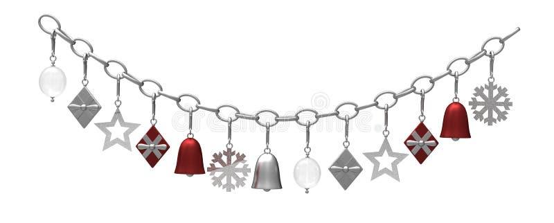 圣诞节装饰停止的金属 库存例证