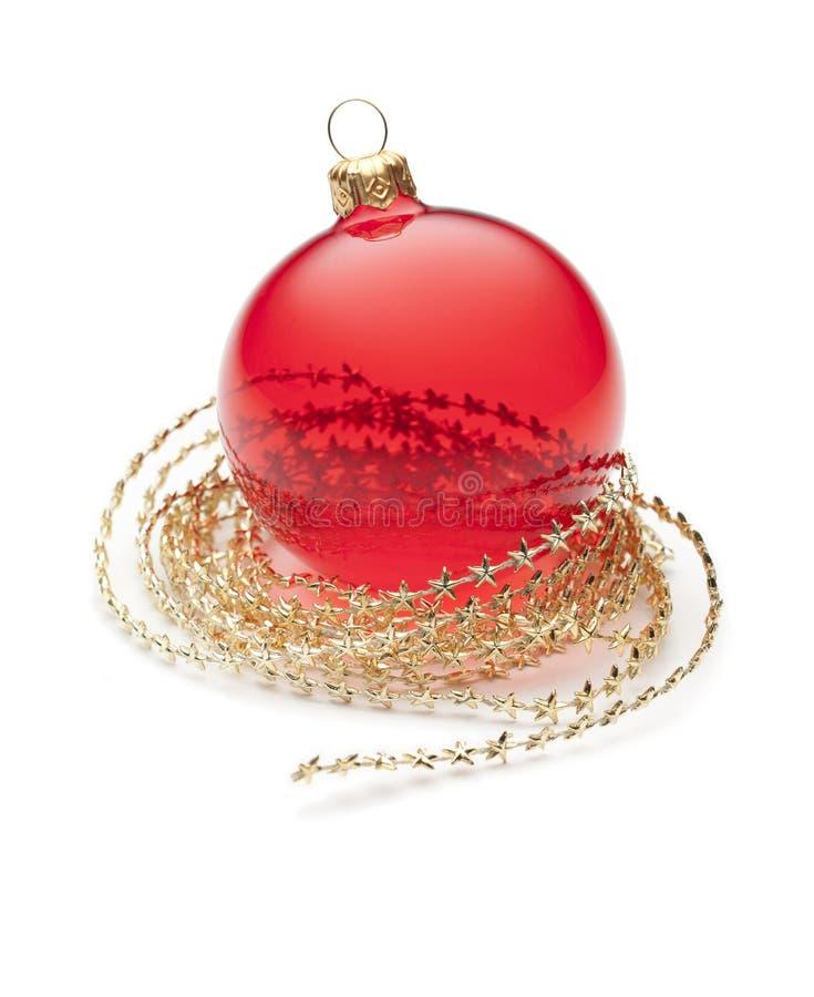 圣诞节装饰品红色 免版税库存照片