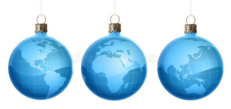 圣诞节装饰品集 免版税库存图片