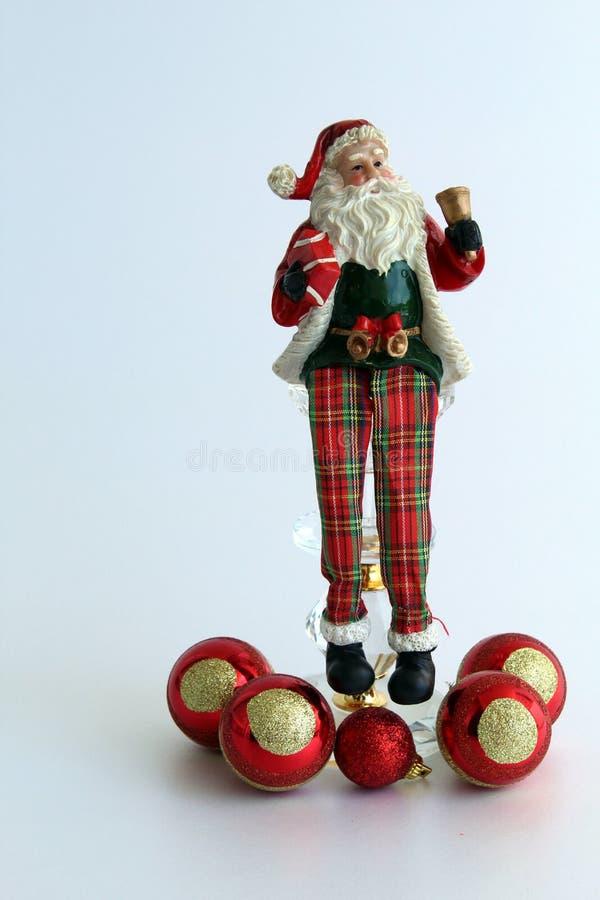 圣诞节装饰品,圣诞老人项目 免版税库存图片