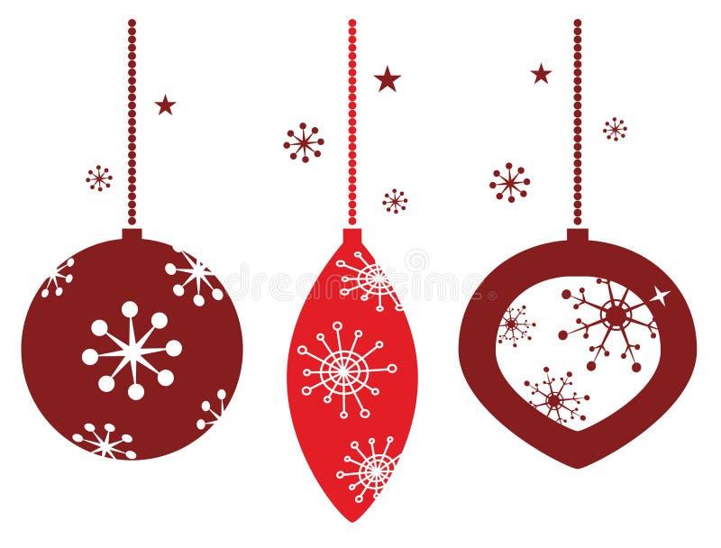 圣诞节装饰当事人红色减速火箭 皇族释放例证