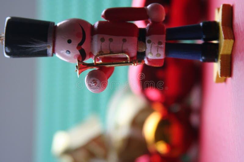 圣诞节装饰战士玩具 免版税库存照片