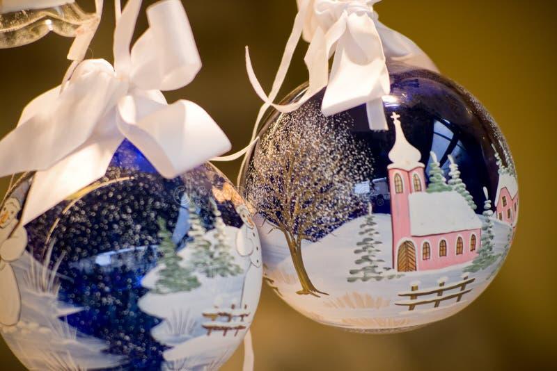 圣诞节装饰手工制造 免版税库存照片