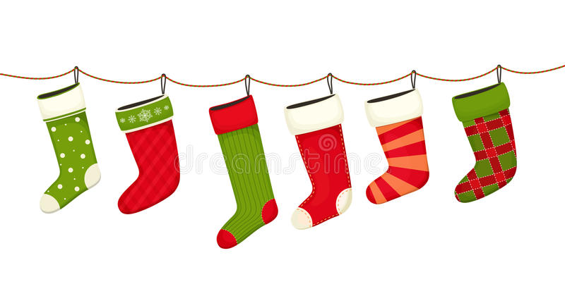 圣诞节装饰新的储存岁月 礼物的垂悬的新年装饰 库存例证