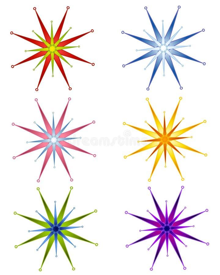 圣诞节装饰星形 向量例证