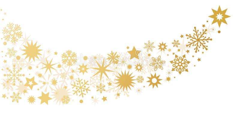 圣诞节装饰星-与星的背景 向量例证