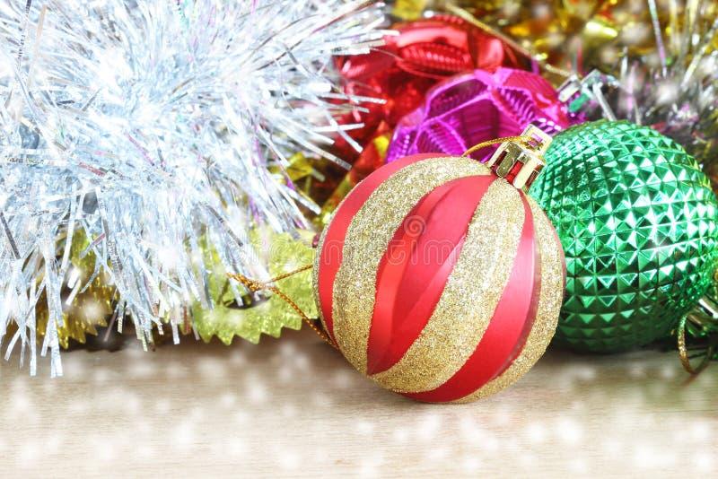 圣诞节装饰木背景 木的装饰 Vintag 库存照片